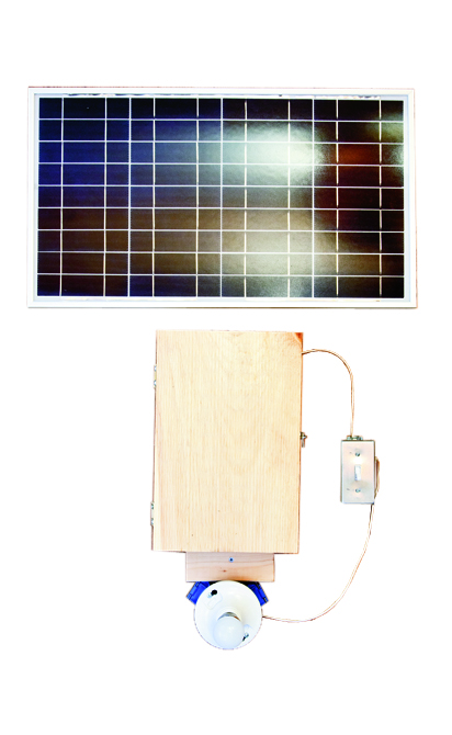30 Watt Solar Panel w/ Light and Switch