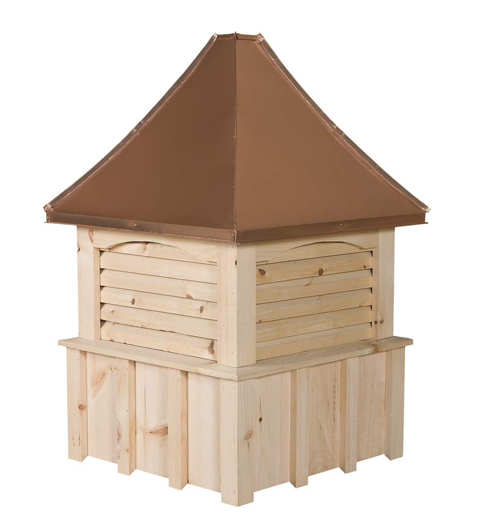 Board and Batten Wood Cupola w/ Copper Top