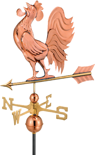 Copper Standing Rooster Weathervane