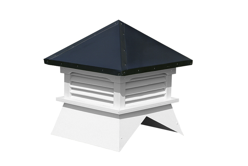 Shed Cupola (white w/ black roof)