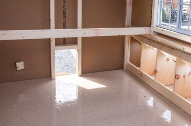 chicken coop accessories Epoxy floor