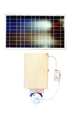 30 watt solar powered light with switch