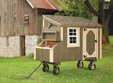 chicken coop accessories Avocado L35 With Optional Wheels and Handle Front View