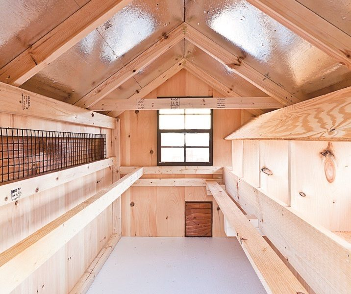 deluxe chicken coops A46 interior view