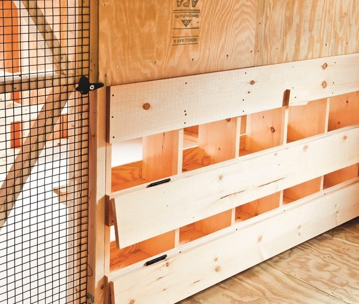 deluxe chicken coops Feed Room of A60 A80