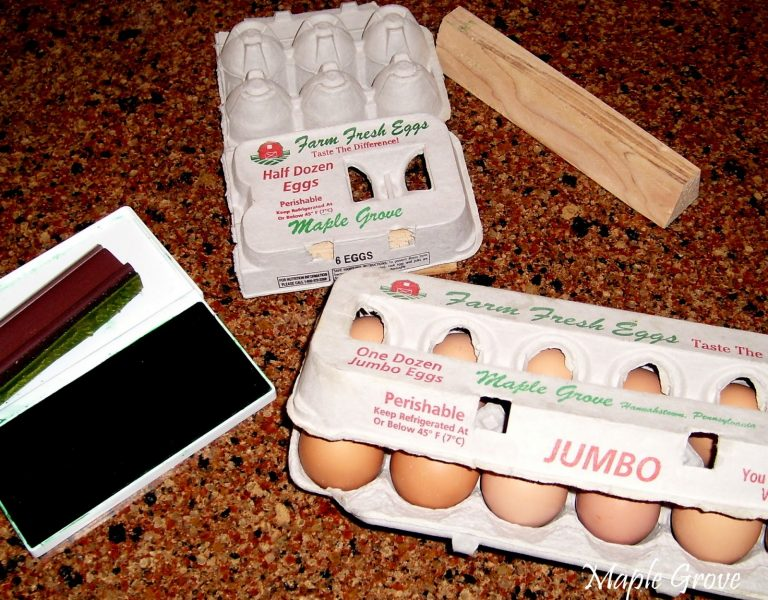 Cartons for selling eggs to reduce the cost of raising chickens
