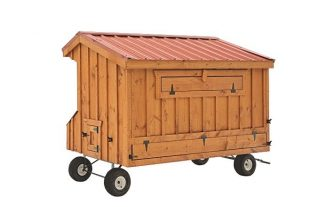 prefab chicken coops natural stain