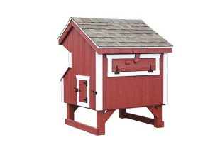 prefab chicken coops Red Q34 Back View