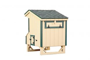 prefab chicken coops Cream Q44 Back View