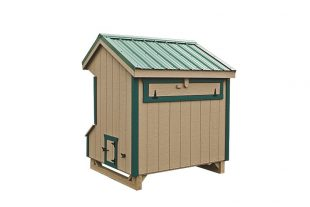 prefab chicken coops Clay Back View