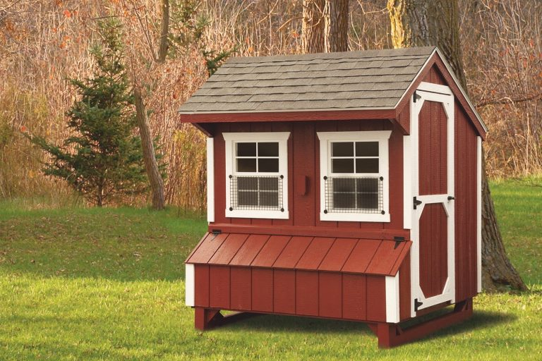 prefab chicken coops 5x6 Quaker With Duratemp