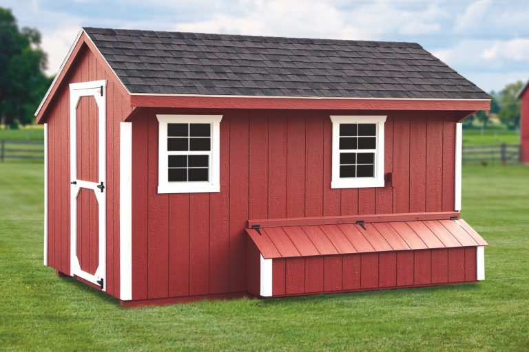 prefab chicken coops 7x12 Quaker Feed Room With Duratemp