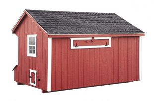 prefab chicken coops Red Q72 Back View