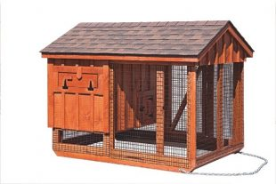 chicken coop and run A57C back B