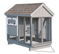 chicken coop and run A46C back
