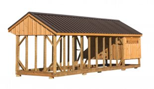 chicken coop and run Q724C back