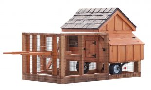 chicken coop tractor 3x3 A Frame Tractor back