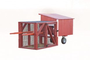chicken coop tractor L34T BACK