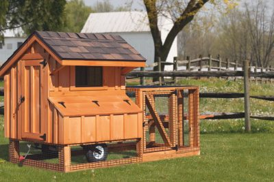 chicken coop tractor 3x4 stained tractor