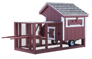 chicken coop tractor Q34T Painted DT Red