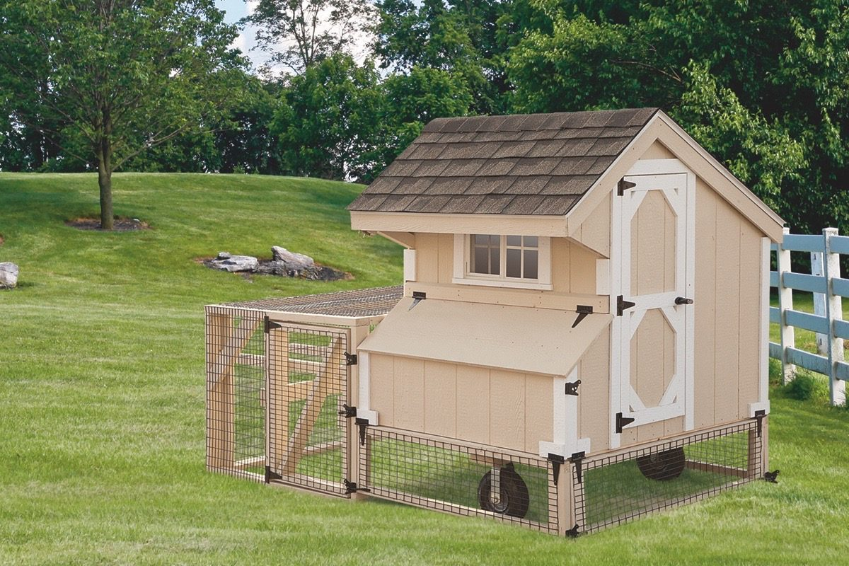 chicken coop tractor Beige Q44T Front View
