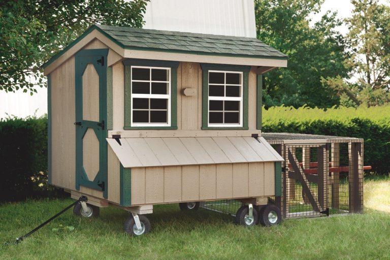 chicken coop tractor 4x6 Quaker
