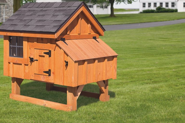 a-frame wooden chicken coops