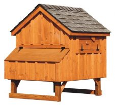 a frame chicken coop Rustic Cedar A44 Back View