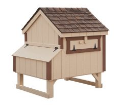 a frame chicken coop Beige A44 Back View