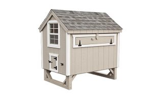 a frame chicken coop Light Gray A46 Back View