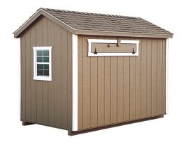 a frame chicken coop Buckskin A60 Back View 1