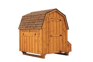barn style chicken coops Brown Cedar D66 Back View
