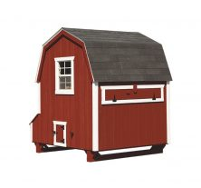 barn style chicken coops Red D66 Back View