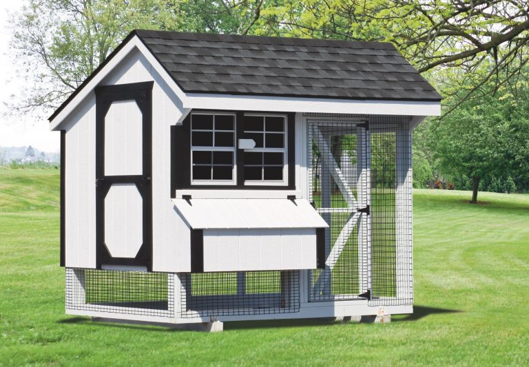 wooden chicken coops 6x8 Combination