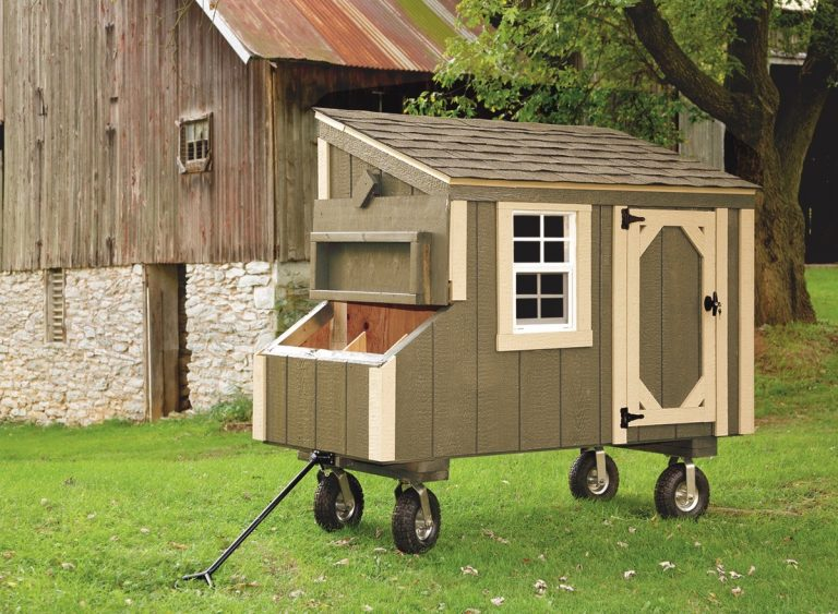wooden chicken coops Avocado L35 With Optional Wheels and Handle Front View