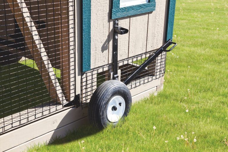 portable chicken coops on wheels wheel lift lever